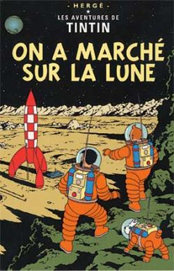 Vykort - On a marche sur la lune