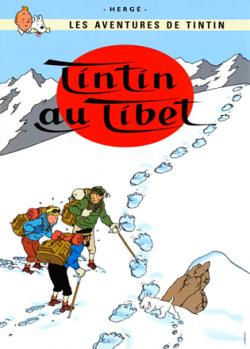 Vykort - Tintin au tibet