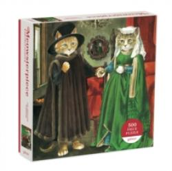 The Arnolfini Marriage Meowsterpiece 500 Piece Puzzle