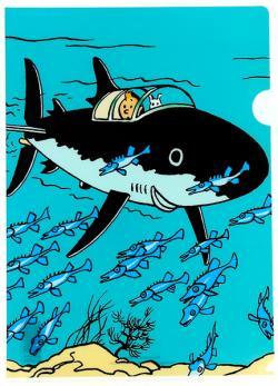 Plastmapp - Haj-ubåt