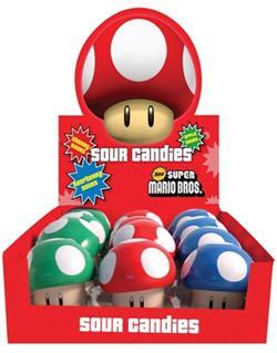 Nintendo Tins Super Mario Bros Sour Candies Mushroom