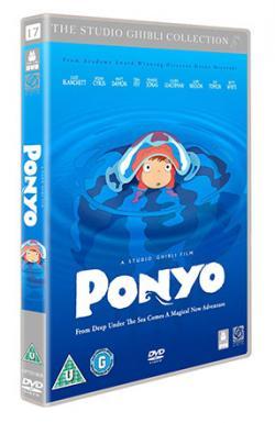 Ponyo på klippan vid havet
